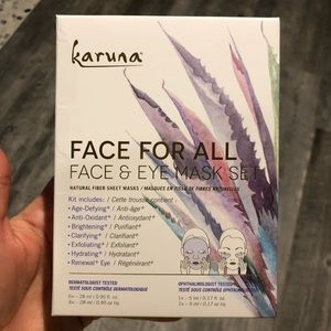 Karuna face for all face & eye mask set